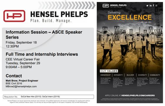 Hensel Phelps @ Speaker Series 2020 - 9/18 12:30pm
