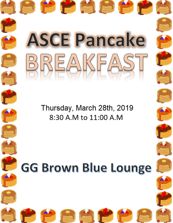 Pancake Breakfast with ASCE!