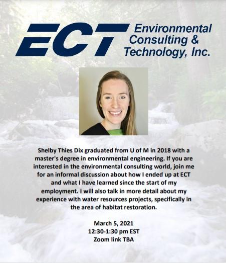 ECT @ Speaker Series 2021 - 3/5, 12:30pm