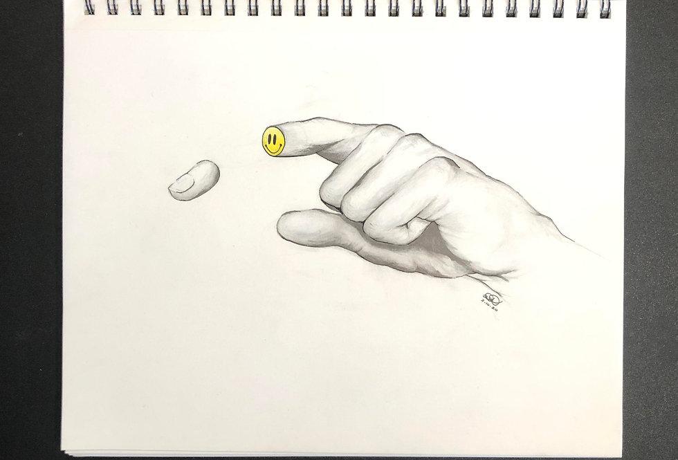 """Slice of Happiness"" Original Sketch"