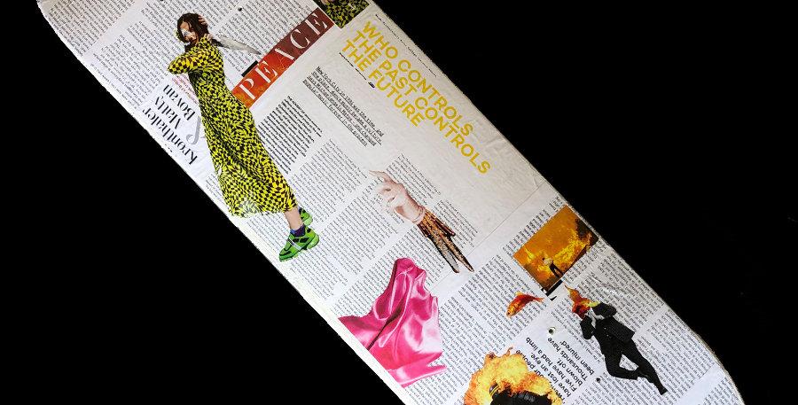 """""""STRIFE"""" Original Magazine Collage Board"""