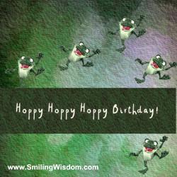 FREE Hoppy Birthday Frog Video