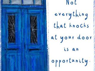 Look before you open the door.