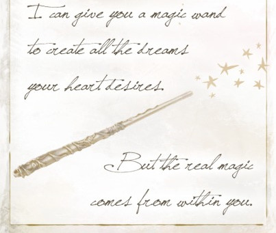 Real magic comes from within.