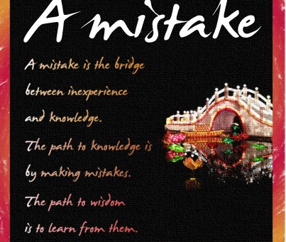 Mistakes Can be a Good Thing!