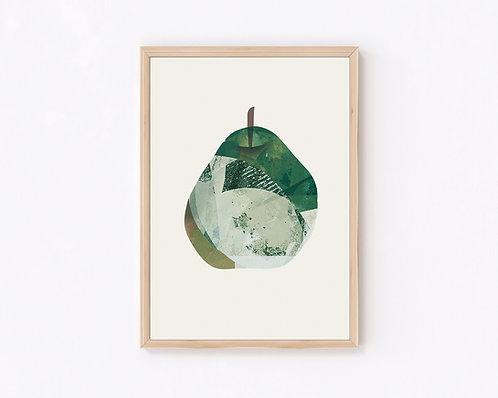 pear(ジークレー版画)