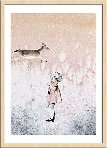 インテリア|ポスター|おしゃれ|モダン|アート|デザイン|北欧 |レトロ |人気|海外インテリア|ヴィンテージ|ビンテージ|内装|家具|かわいい|コラージュ|部屋|papertrumpets|子供|鹿|バンビ|写真|グレー|ピンク