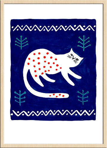 Cat with Red Dots(Limited Edition)