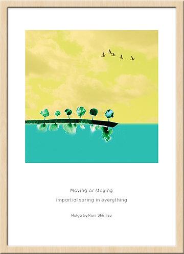 和室 インテリア 壁 掛け軸 和モダン 俳画 俳句 ポスター アート 芸術 ジークレー ジクレー 版画 ハーネミューレ 水彩画
