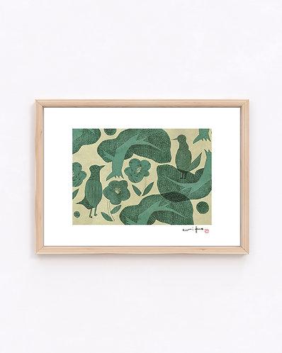 ものがたり『緑』ジークレー版画