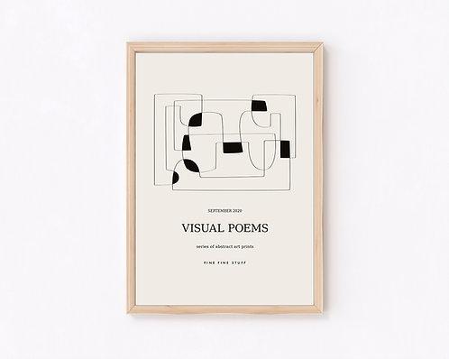 Visual Poems - black
