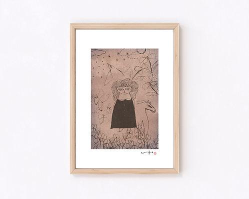 少女『夢』ジークレー版画