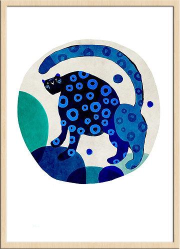 津島タカシ|Takashi Tsushima|イラスト|ポスター|ジークレー|北欧|動物|ヒョウ