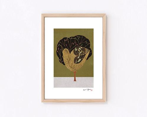 ものがたり『樹』ジークレー版画
