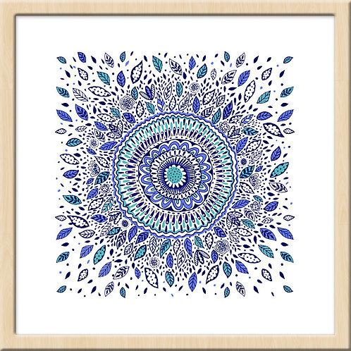 Indigo Floral Mandala