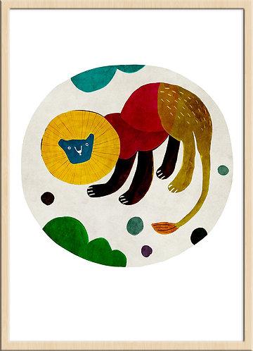 津島タカシ|Takashi Tsushima|イラスト|ポスター|ジークレー|北欧|動物|ライオン