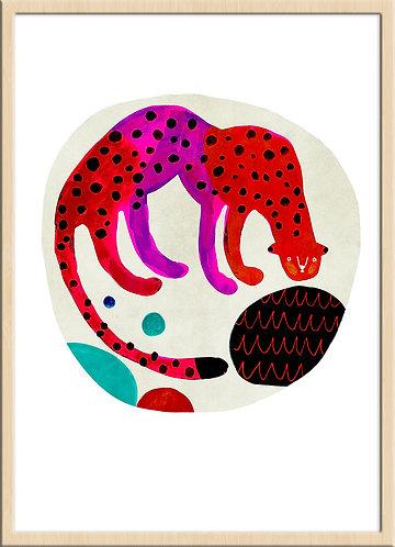津島タカシ|Takashi Tsushima|イラスト|ポスター|ジークレー|北欧|動物|チーター