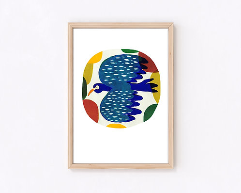 津島タカシ|Takashi Tsushima|イラスト|ポスター|ジークレー|北欧|動物|鹿|鳥