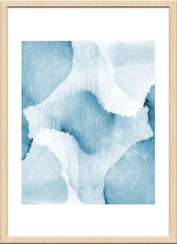 Watercolor V blue