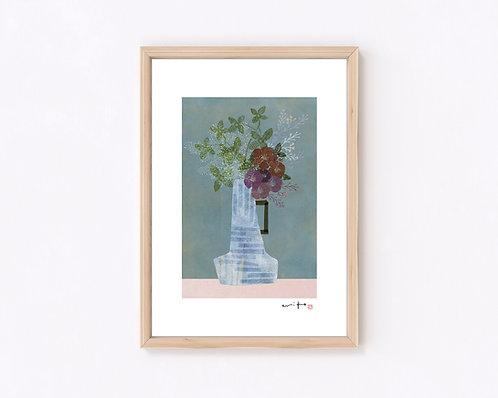 花器『葉月』ジークレー版画