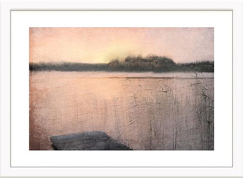 Pink Sunset at the Lake