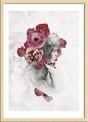 インテリア|ポスター|おしゃれ|モダン|アート|デザイン|北欧 |レトロ |人気|海外インテリア|ヴィンテージ|ビンテージ|内装|家具|かわいい|コラージュ|部屋|papertrumpets|花|ピンク|バラ