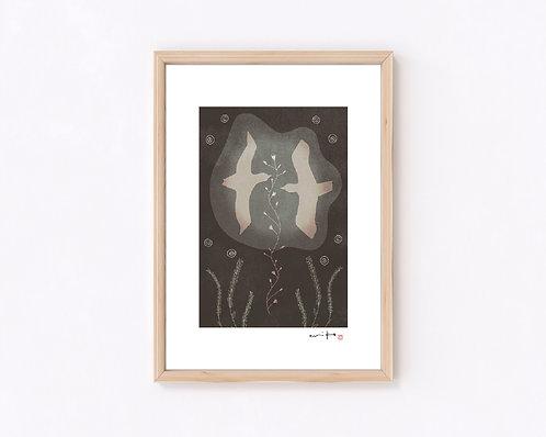 ものがたり『舞』ジークレー版画