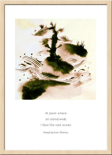 和室 インテリア 壁 掛け軸 和モダン 俳画 俳句 ポスター アート 芸術