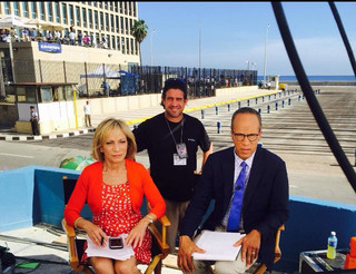 On set in Havana, Cuba with Lester Holt and Andrea Mitchell for Nightly News