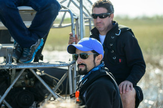 Mike and Juan on set in the Florida Everglades