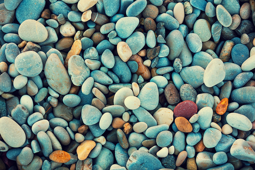 Abstract nature pebbles background. Blue