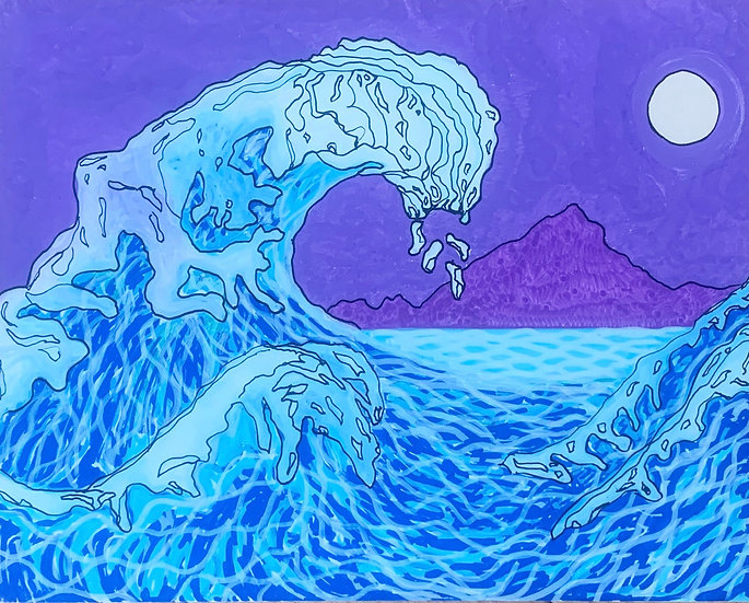 Monster Wave (set of 5 blank cards)