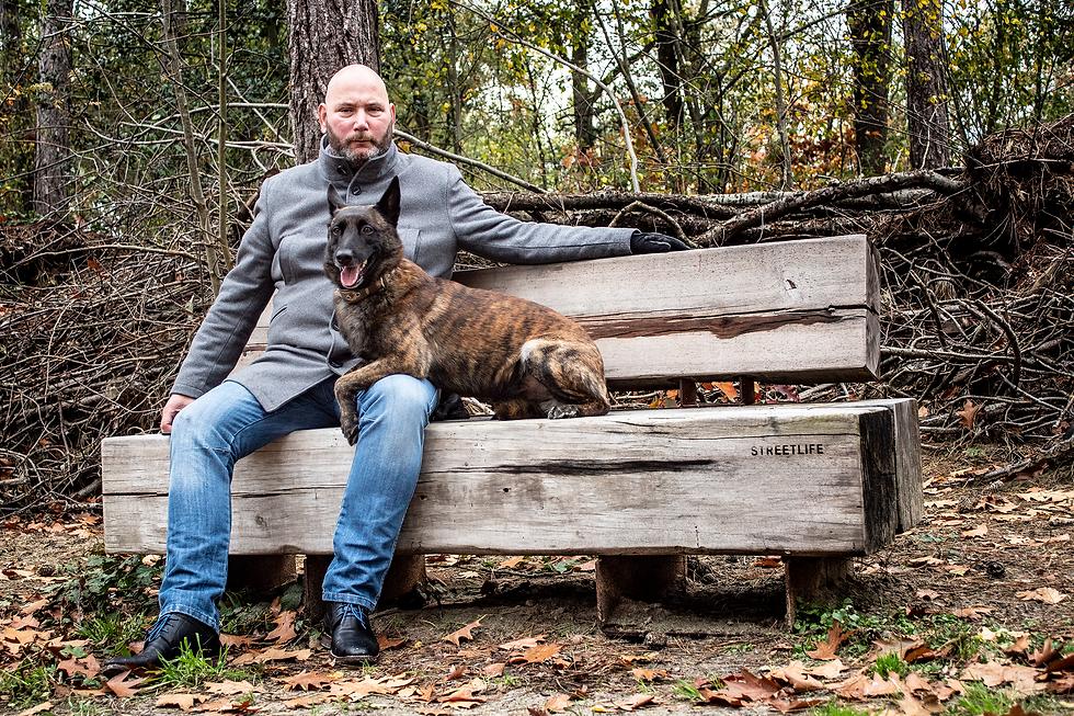 Martijn Verhaegen met zijn hond Xtreme o