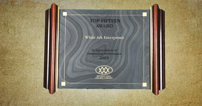 Top Fifteen Award 2003