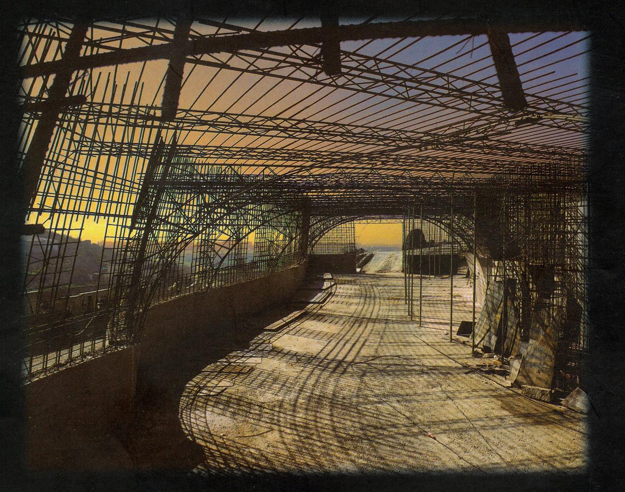 Construcción de la Bóveda de la Sala de la Sala de Exposiciones o Segundo Módulo
