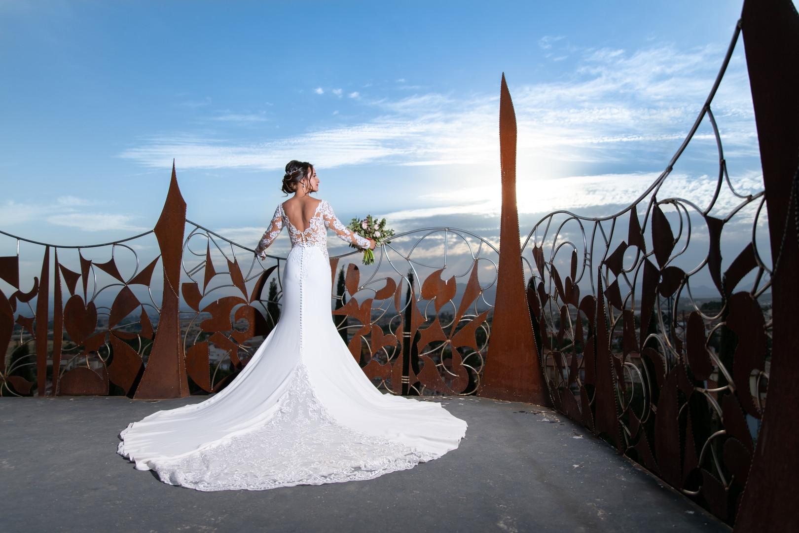 Perspectivas del espectacular vestido de Angy