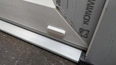 Kommerling low threshold door with face drain cap
