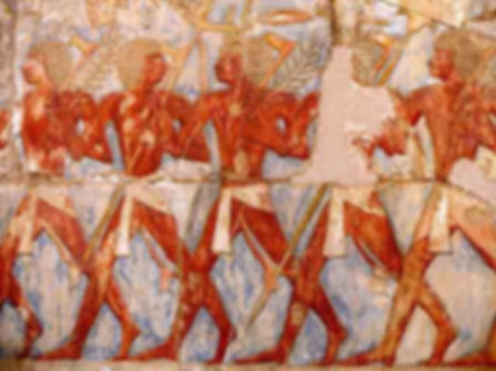 Wall painting egyptian farmers