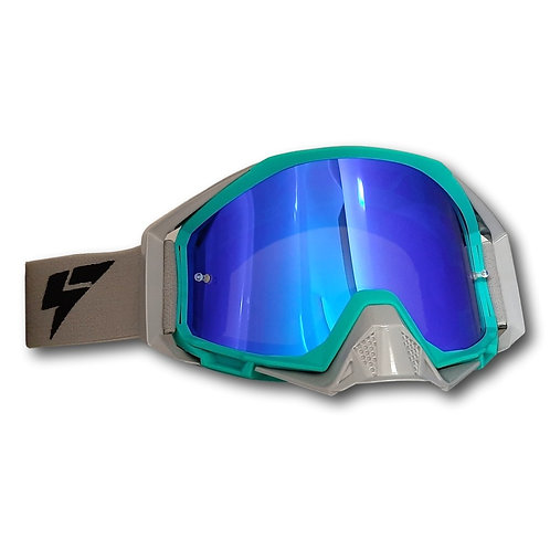 LY64 Super Wide Vision Pro Goggle - Teal / Nardo Grey