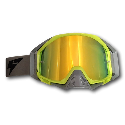 LY64 Super Wide Vision Pro Goggle Fluro Yellow/Nardo Grey