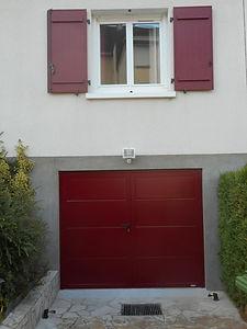 porte - garage - pvc - basculante - lumi