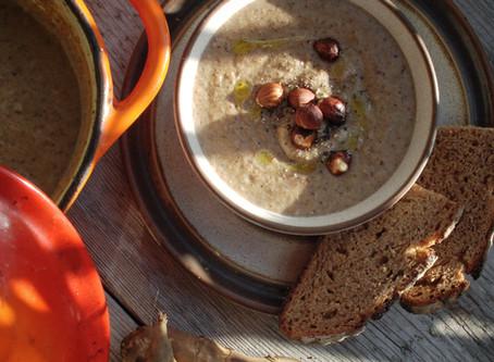 Jerusalem Artichoke, New Potato & Hazelnut Soup