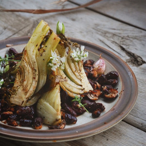 Fennel Cutlets with Dulse Crackling