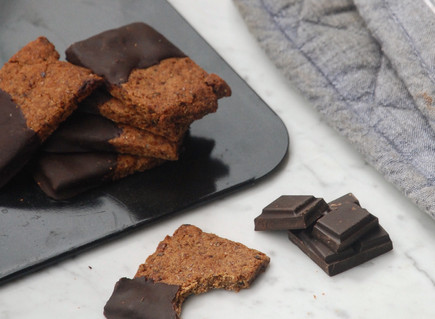 Naturally Sweet: Chocolate Dipped Date Thins