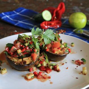 Speedy Grilled Avocado with Fresh Salsa