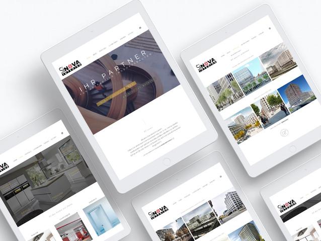 Webdesign Sinova Interior AG