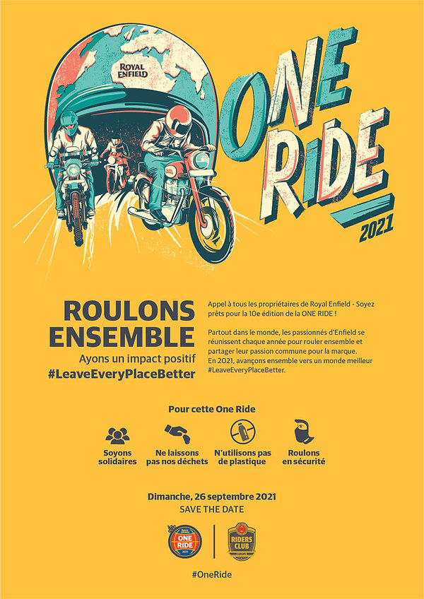 S'inscrire à la One Ride 2021 chez Raffin Motos