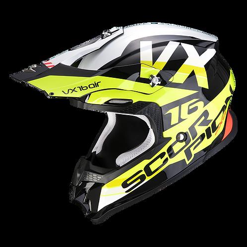 Casque SCORPION VX-16 X-Turn - Noir / Jaune fluo / Blanc
