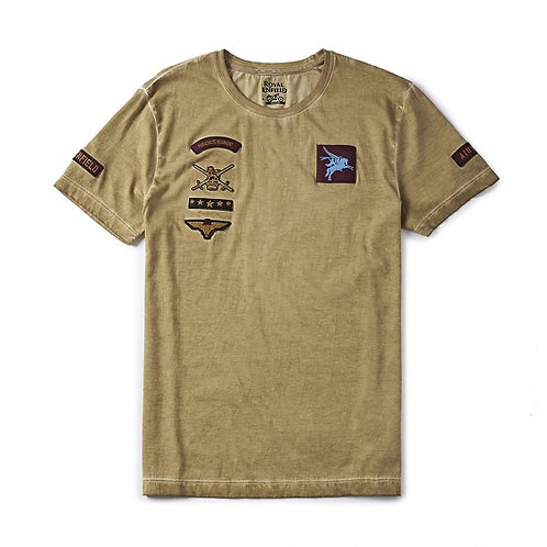 T-shirt Pegasus Royal Enfield - Beige / Marron - Edition limitée
