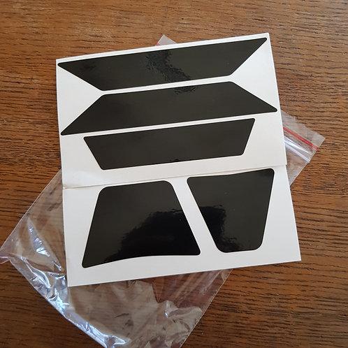 Autocollants formes Noir réfléchissants pour casque moto